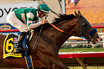 """DEL MAR, CA  AUGUST 17:  #6 Higher Power, ridden by Flavien Prat. wins the TVG Pacific Classic (Grade 1) """"Win and You're In Breeders' Cup Classic Division"""" on August 17, 2019 at Del Mar Thoroughbred Club in Del Mar, CA. (Photo by Casey Phillips/Eclipse Sportswire/CSM)"""