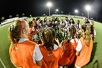 Lakewood Ranch, FL - Wednesday, October 10, 2018:   Team Huddle during a U-17 USWNT match against Colombia.  The U-17 USWNT defeated Colombia 4-1.