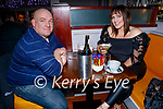 Jason and Jillian Kerins enjoying the evening in Benners Hotel on Friday.