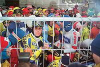 SCHAATSEN: LEEUWARDEN: FRIESE ELFSTEDENTOCHT: zaterdag 4 januari 1997, start vijftiende Elfstedentocht, Erik Hulzebosch, ©foto Martin de Jong
