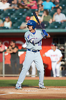 Jared Young (16) of the South Bend Cubs at bat against the Lansing Lugnuts at Cooley Law School Stadium on June 15, 2018 in Lansing, Michigan. The Lugnuts defeated the Cubs 6-4.  (Brian Westerholt/Four Seam Images)