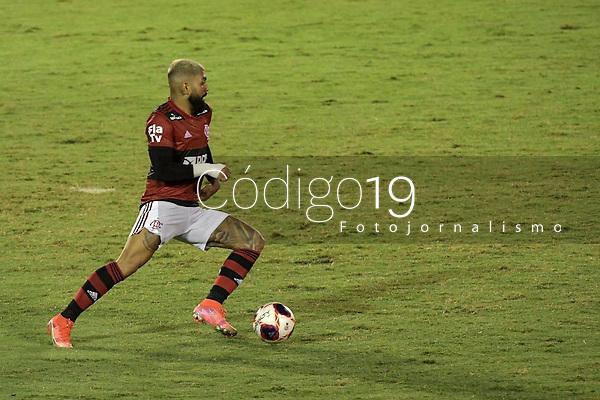 Volta Redonda (RJ), 05/04/2021 - MADUREIRA-FLAMENGO - Gabriel Barbosa, do Flamengo. Partida entre Madureira e Flamengo, válida pela oitava rodada da Taça Guanabara, realizada no Estádio Raulino de Oliveira, em Volta Redonda, nesta segunda-feira (05).
