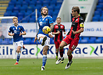 St Johnstone v St Mirren……29.08.20   McDiarmid Park  SPFL<br />Stevie May and Sam Foley<br />Picture by Graeme Hart.<br />Copyright Perthshire Picture Agency<br />Tel: 01738 623350  Mobile: 07990 594431