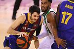 League ACB-ENDESA 2020/2021.Game 15.<br /> FC Barcelona vs Club Joventut Badalona: 88-74.<br /> Alex Abrines vs Shawn Dawson.