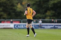 Ben West of Ealing Trailfinders leaves the field after receiving a yellow card during the Greene King IPA Championship match between London Scottish Football Club and Ealing Trailfinders at Richmond Athletic Ground, Richmond, United Kingdom on 8 September 2018. Photo by David Horn.