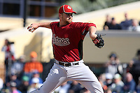 March 5, 2010:  Pitcher Shane Loux of the Houston Astros during a Spring Training game at Joker Marchant Stadium in Lakeland, FL.  Photo By Mike Janes/Four Seam Images