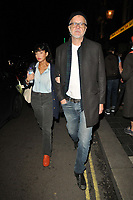 OCT 20 Tim Robbins and his companion spotted in London's Soho