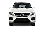 Car photography straight front view of a 2017 Mercedes Benz GLE-Class GLE550e-4MATIC® 5 Door SUV Front View