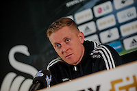 Thursday 08 January 2015<br /> Pictured: Garry Monk, Manager of Swansea City <br /> Re: Swansea City Press Conference ahead of this weekends home clash with West Ham United