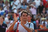 HAMBURGO, ALEMANHA, 18.07.2013 - ABERTO DE HAMBRUGO - O tenista suiço Roger Federer durante confronto contra o tcheco Jan Hajek durante o aberto de Hambrugo na Alemanha, nesta quinta-feira, 18. (Foto: Torsten Helmke / Pixathlon / Brazil Photo Press).