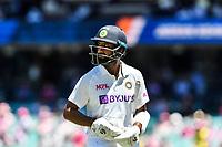 9th January 2021; Sydney Cricket Ground, Sydney, New South Wales, Australia; International Test Cricket, Third Test Day Three, Australia versus India; Cheteshwar Pujaraof India walks after being dismissed