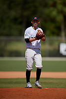 William Rangel during the WWBA World Championship at the Roger Dean Complex on October 20, 2018 in Jupiter, Florida.  William Rangel is a left handed pitcher from Cleburne, Texas who attends Cleburne High School and is committed to Texas Tech.  (Mike Janes/Four Seam Images)