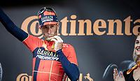 Vincenzo Nibali (ITA/Bahrain-Merida) wins the shortened stage 20: Albertville to Val Thorens(59km in stead of the original 130km due to landslides/bad weather)<br /> 106th Tour de France 2019 (2.UWT)<br /> <br /> ©kramon