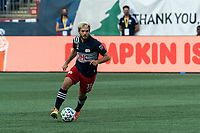 FOXBOROUGH, MA - SEPTEMBER 23: Kelyn Rowe #11 of New England Revolution dribbles during a game between Montreal Impact and New England Revolution at Gillette Stadium on September 23, 2020 in Foxborough, Massachusetts.