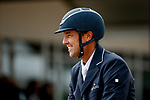 October 17, 2021: William Coleman (USA), aboard Tight Lines, smiles after competing during the Stadium Jumping Final at the 5* level during the Maryland Five-Star at the Fair Hill Special Event Zone in Fair Hill, Maryland on October 17, 2021. Jon Durr/Eclipse Sportswire/CSM