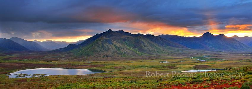 Fingers of Light over Cloudy Range, Yukon.
