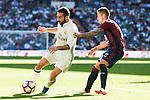 Real Madrid's player Daniel Carvajal and Eibar FC's player Ruben Peña Jimenez during a match of La Liga Santander at Santiago Bernabeu Stadium in Madrid. October 02, Spain. 2016. (ALTERPHOTOS/BorjaB.Hojas)