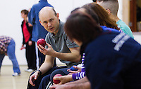 20 OCT 2011 - DISS, GBR - Iain Dawson talks with members of the multi sport club for people with learning disabilities that he helped to found after becoming aware of its need during his work as a physiotherapist (PHOTO (C) NIGEL FARROW)