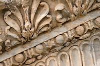 Tripoli, Libya - Carved Stone from the Marcus Aurelius Roman Arch, 163-64 A.D., Tripoli Medina (Old City).
