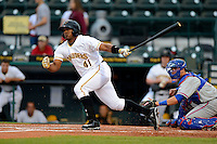 Bradenton Marauders outfielder Carlos Mesa #41 during a game against the St. Lucie Mets on April 12, 2013 at McKechnie Field in Bradenton, Florida.  St. Lucie defeated Bradenton 6-5 in 12 innings.  (Mike Janes/Four Seam Images)