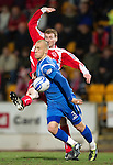 St Johnstone v Brechin....22.03.11  Scottish Cup Quarter Final replay.Danny Grainger and Gary Fusco.Picture by Graeme Hart..Copyright Perthshire Picture Agency.Tel: 01738 623350  Mobile: 07990 594431