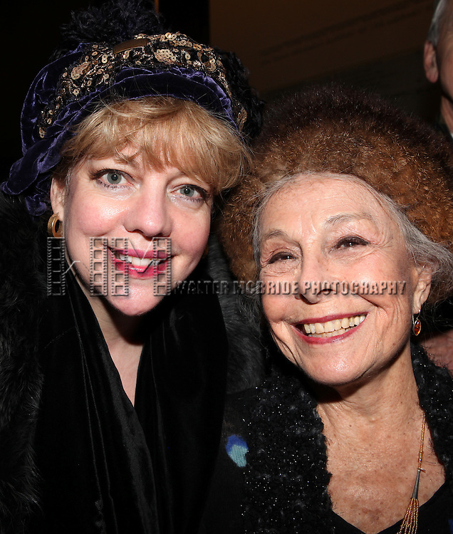 KT Sullivan & Marge Champion.attends the reception and unveiling for the Al Hirschfeld permanent installation at The New York Public Library for Performing Arts in New York City..