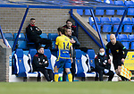 St Johnstone v Brechin City…10.10.20   McDiarmid Park  Betfred Cup<br />Stevie May gets a pat on the back from manager Callum Davidson as he is subbed<br />Picture by Graeme Hart.<br />Copyright Perthshire Picture Agency<br />Tel: 01738 623350  Mobile: 07990 594431