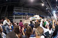 VALENCIA, SPAIN - NOVEMBER 7: Trial exibition during DOS RODES at Feria Valencia on November 7, 2015 in Valencia, Spain