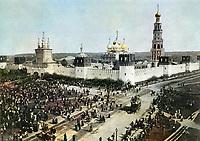1900-е. Новодевичий монастырь с северо-восточной стороны. Москва. Российская Империя.