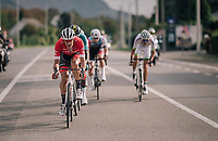 Jasper Stuyven (BEL/Trek-Segafredo) forces the decisive move and gets a few others joining him in the final assault towards Namur<br /> <br /> 59th Grand Prix de Wallonie 2018 <br /> 1 Day Race from Blegny to Citadelle de Namur (BEL / 206km)