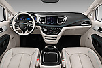 Stock photo of straight dashboard view of a 2019 Chrysler Pacific Hybrid Limited 5 Door Mini Van