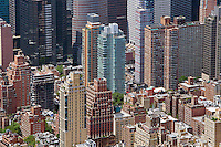 aerial photograph east side and midtown Manhattan, New York City
