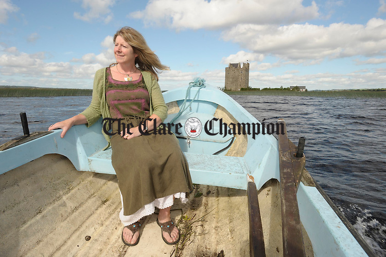 Mary Byrne, Castlebawn, Ogonelloe. Photograph by John Kelly. Mary Byrne, who together with her husband Pat Cody, are opening their summer home, Castlebawn, Ogonelloe, in the Scariff bay, to to the public for July and August this year. Photograph by John Kelly.
