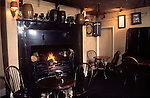 The Village Pub. Interior of  St Kew Inn, Saint Kew, Cornwall. England 1990s 1991