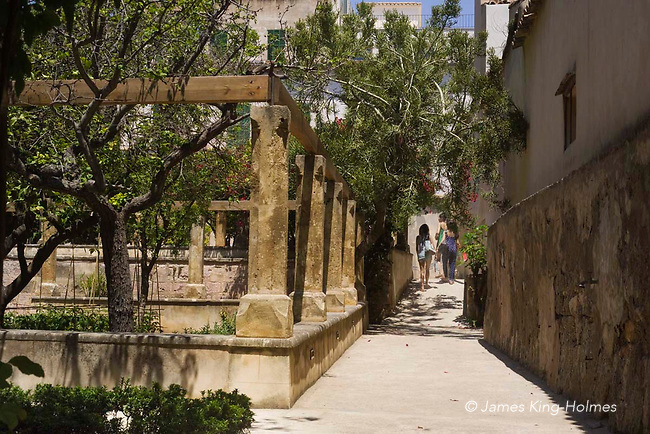 The Bishop's Gardens of Palma de Mallorca. This tranquil place belongs to the Diocese of Majorca and maintains the classical layout but now is administered by the Palma Council and is open to the public.<br /> EDITORIAL USE ONLY
