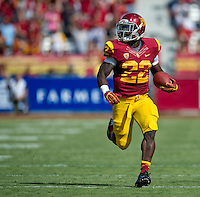 LOS ANGELES, CA - September 22, 2012:  USC running back Curtis McNeal (22) during the USC Trojans vs the Cal Bears at the Los Angeles Memorial Coliseum in Los Angeles, CA. Final score USC 27, Cal 9.