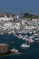 Royaume-Uni, îles Anglo-Normandes, île de Guernesey, Saint Peter Port// United Kingdom, Channel Islands, Guernsey island, Saint Peter Port