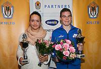 01-12-13,Netherlands, Almere,  National Tennis Center, Tennis, Winter Youth Circuit, Both winners 16 years Liza Lebedzeva and Patrick Speelman<br /> Photo: Henk Koster