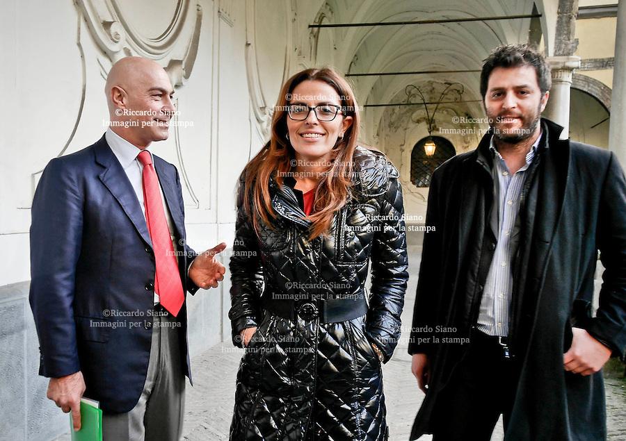 - NAPOLI  12 FEB    2014 -  Candidati il segretario regionale del Pd della Campania  da sn Guglielmo Vaccaro, Assunta Tartaglione e Michele Grimaldi