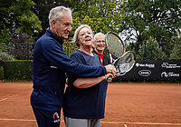 Oldenzaal, Netherlands, August 15, 2019, TC Ready, Old Stars Program, Tom Okker and Marian and Wim<br /> Photo: Tennisimages/Henk Koster