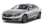 2018 Volvo S60 T5 4 Door Sedan Angular Front stock photos of front three quarter view