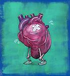 Illustration of sad heart