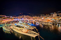 Luxury yachts docked in the marina at Monte Carlo, Monaco