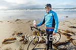 Roy Dineen from Causeway enjoying a cycle in Ballyheigue on Sunday.
