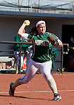 March 7, 2012:   Sacramento State Hornets third baseman Emily McCormick throws to first against the Nevada Wolf Pack during their NCAA softball game played at Christina M. Hixson Softball Park on Wednesday in Reno, Nevada.