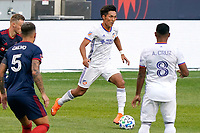 CHICAGO, UNITED STATES - AUGUST 25: Yuya Kubo #7 of FC Cincinnati dribbles the ball during a game between FC Cincinnati and Chicago Fire at Soldier Field on August 25, 2020 in Chicago, Illinois.