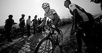Dwars door Vlaanderen 2012.Sylvain Chavanel up the Patersberg