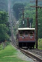 AJ2669, incline railway, Chattanooga, Tennessee, Lookout Mountain, View of the Lookout Mountain Incline Railway one of the steepest in the world in Chattanooga in the state of Tennessee.