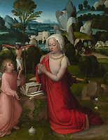 Full title: The Magdalen in a Landscape<br /> Artist: Adriaen Ysenbrandt<br /> Date made: perhaps about 1510-25<br /> The National Gallery, London
