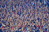 5th September 2021; Nashville, TN, USA;  United States fans cheer on their team during a CONCACAF World Cup qualifying match between the United States and Canada on September 5, 2021 at Nissan Stadium in Nashville, TN.